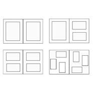 Схема альбома А4 - под фото размером 13х18 см;